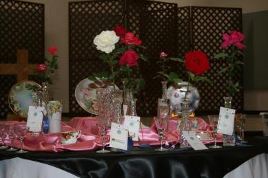 2014 Rose Show trophy table